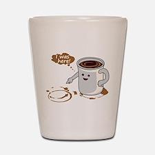 Coffee stain Shot Glass