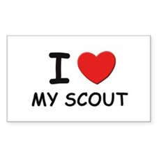 I love scouts Rectangle Decal