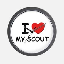 I love scouts Wall Clock