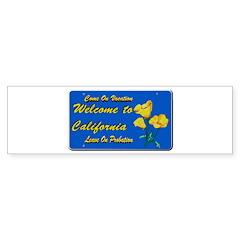 Welcome to California Bumper Bumper Sticker
