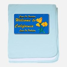 Welcome to California baby blanket