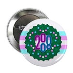 "Trans Wreath 2.25"" Button"