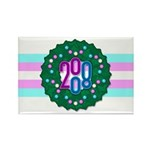 Trans Wreath Rectangle Magnet (100 pack)