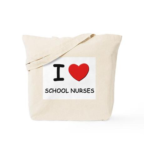 I love school nurses Tote Bag