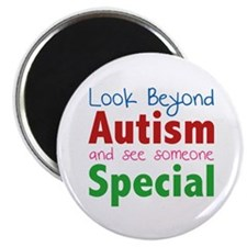 Look Beyond Autism And See Someone Special Magnet