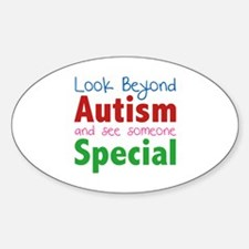 Look Beyond Autism And See Someone Special Decal