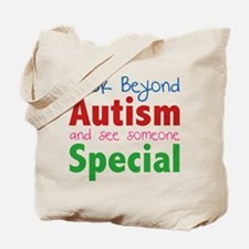 Look Beyond Autism And See Someone Special Tote Ba