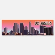 Los Angeles Bumper Car Car Sticker