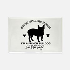 French Bulldog dog breed designs Rectangle Magnet