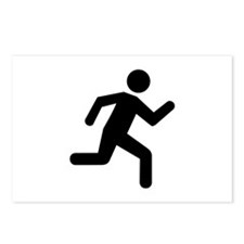 Running person Postcards (Package of 8)