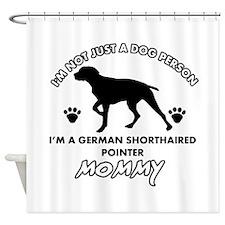 German Shorthared dog breed designs Shower Curtain