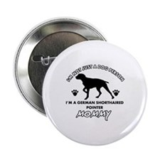 "German Shorthared dog breed designs 2.25"" Button"