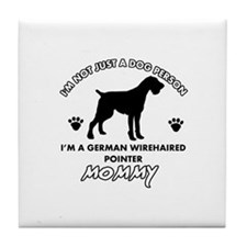 German Wirehaired Pointer dog breed designs Tile C