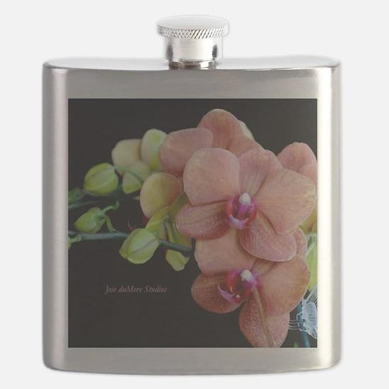 Orange Orchids 2 Flask