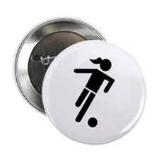 "Women soccer 2.25"" Button"
