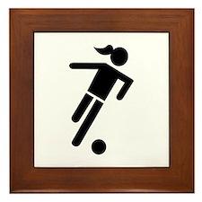 Women soccer Framed Tile