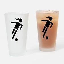 Women soccer Drinking Glass