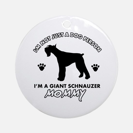 Giant Schnauzer dog breed design Ornament (Round)