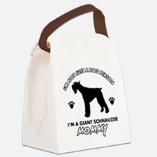 Giant Schnauzer dog breed design Canvas Lunch Bag