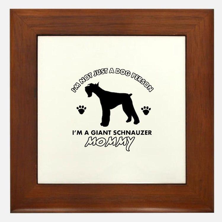 Giant Schnauzer dog breed design Framed Tile