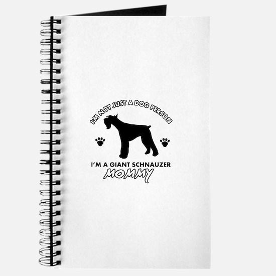 Giant Schnauzer dog breed design Journal