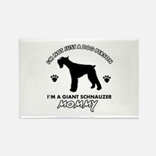 Giant Schnauzer dog breed design Rectangle Magnet