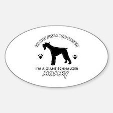 Giant Schnauzer dog breed design Sticker (Oval)
