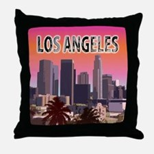 Cute Santa monica city Throw Pillow