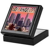 Los angeles Square Keepsake Boxes