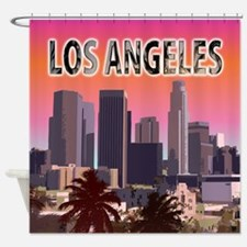 Cute Long beach california Shower Curtain