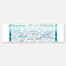 # 1 Teacher Bumper Bumper Bumper Sticker