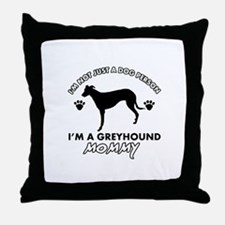 Greyhound dog breed designs Throw Pillow