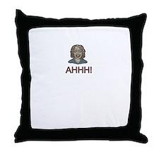 zombie AHHH! Throw Pillow