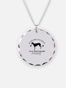 Greyhound dog breed designs Necklace