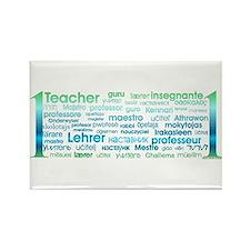 # 1 Teacher Rectangle Magnet