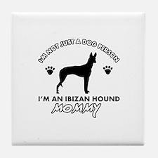 Ibizan Hound dog breed design Tile Coaster