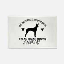 Ibizan Hound dog breed design Rectangle Magnet (10