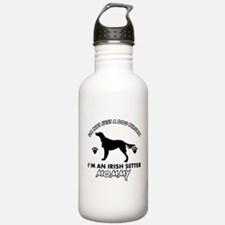 Irish Setter dog breed design Water Bottle