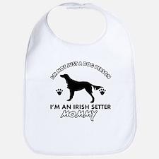 Irish Setter dog breed design Bib