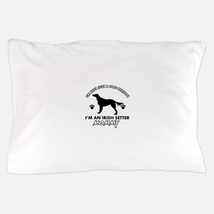Irish Setter dog breed design Pillow Case