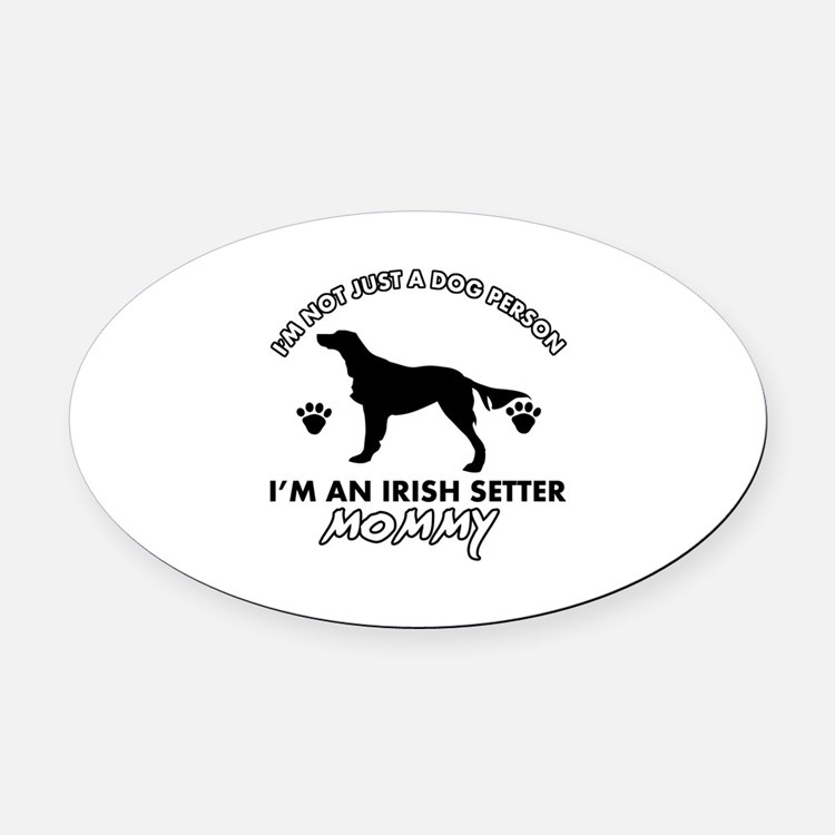 Irish Setter dog breed design Oval Car Magnet
