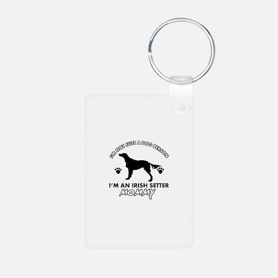 Irish Setter dog breed design Aluminum Photo Keych