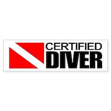 Certified Diver Bumper Bumper Sticker