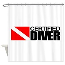 Certified Diver Shower Curtain