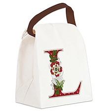 Monogram Letter L Canvas Lunch Bag