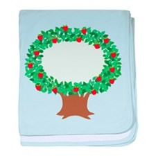 Apple Tree baby blanket