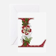 Monogram Letter L Greeting Card
