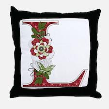 Monogram Letter L Throw Pillow