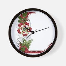 Monogram Letter L Wall Clock