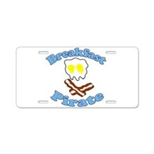 Breakfast Pirate Aluminum License Plate